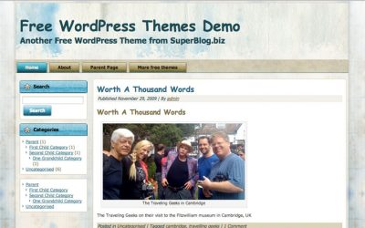Free WordPress theme for Watercolourists