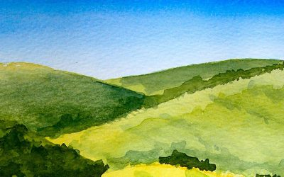 Watercolour Painting | Grassy Knolls