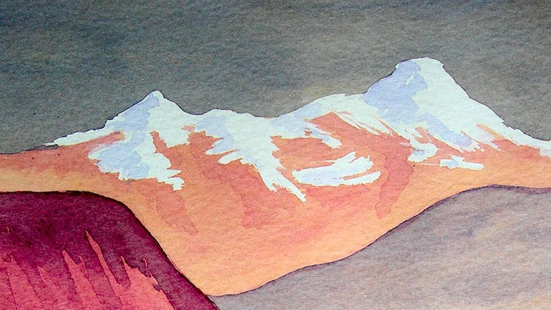 Watercolour Painting | Reflections of Mountains