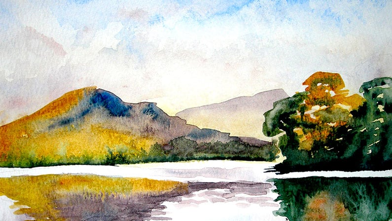 Watercolour Painting | Scottish Loch