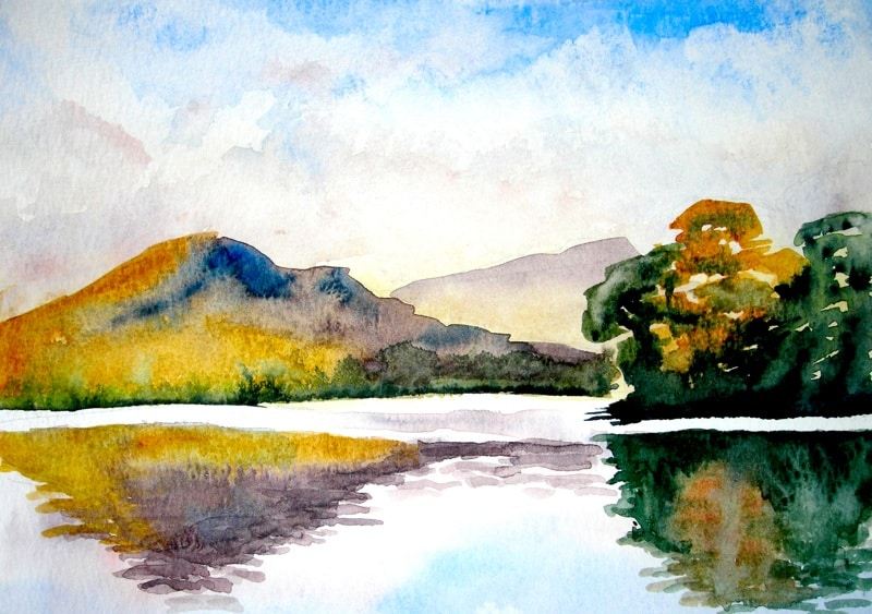 watercolour painting scottish loch watercolour journey