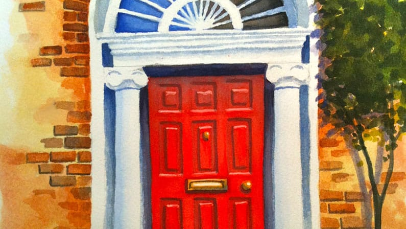 Watercolour Painting | Dublin Doorway
