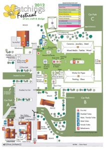 Patchings Art Festival Map 2012