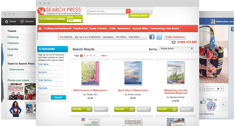 Search Press - Websites