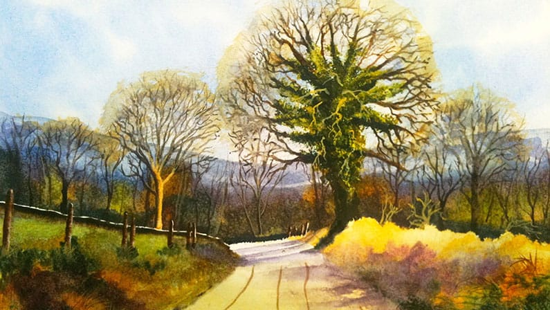 The Road From Stanton Lees - Original Watercolour Painting