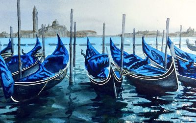 Watercolour Painting | Gondolas