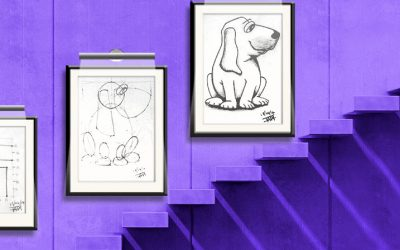 Construction Drawing, Ellipses and Frog Dog