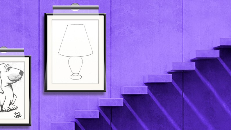 Drawing a little lamp