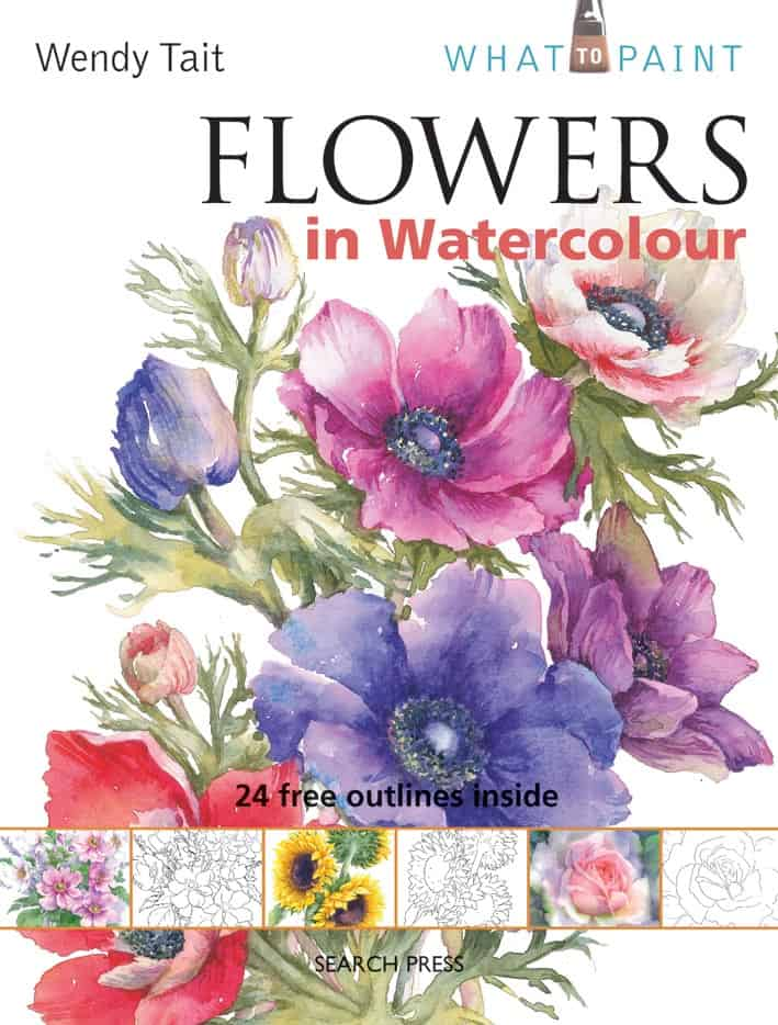 Flowers in Watercolour by Wendy Tait