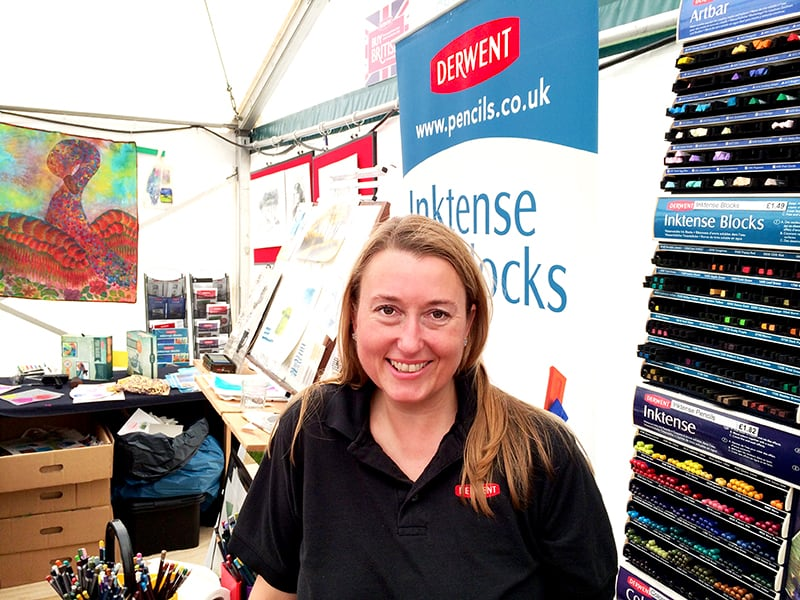 Interview with Leah Lister of Derwent Pencils at Patchings Art Festival 2014