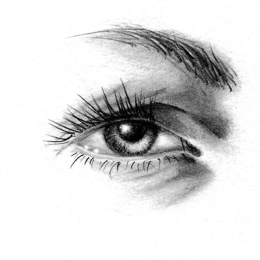 Portraiture foundations in pencil and charcoal watercolour how to draw a photorealistic eye ccuart Image collections